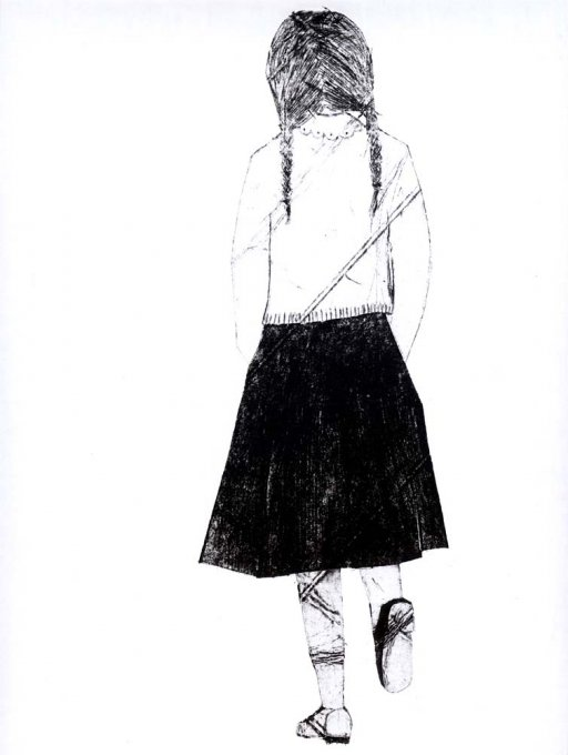 o.T., 2005, Tetrapak-Radierung, 21 x 30 cm
