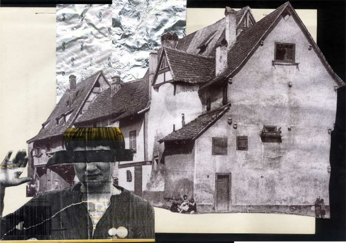 o.T. (Schlettstadt/Elsaß), 2005, Collage. ca. 32 x 23 cm