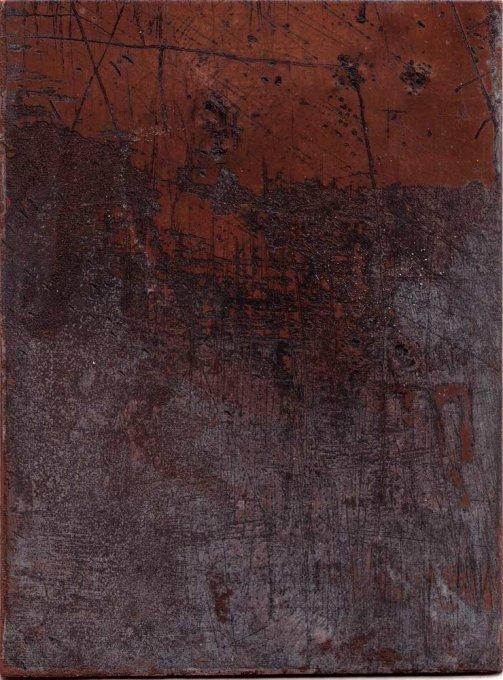 o.T. , 2010, Kupferplatte, Tiefdruckfarbe
