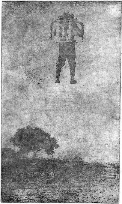 o.T. (Genfer Astronaut), 2009, Photoradierung, ca. 18 x 10,7 cm