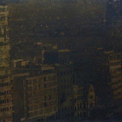 Ausblick I, 2011, 10 x 21 cm, Messing geätzt, Tiefdruckfarbe