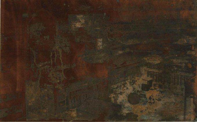 Ausblick III, 2011, 25,5 x 40,5 cm, Kupfer geätzt, Tiefdruckfarbe, Variation 1