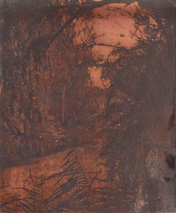 o.T. (Jordan IV), 2015, Kupfer geätzt, Druckfarbe, 9,5 x 7,8 cm